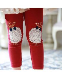 Aakriti Creations Adorable Crown With Bow Design Leggings-babycouture.in