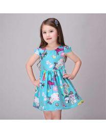 Aqua Mint FarmHouse Dress-babycouture.in
