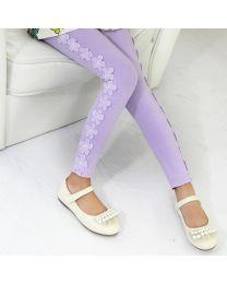 Aakriti Creations Beautiful Purple Floral Leggings-babycouture.in