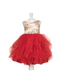 Pinkcow Sequin Princess Kids Dress-babycouture.in